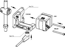 e1d100 mounting and fine adjustment bracket for laser units installation