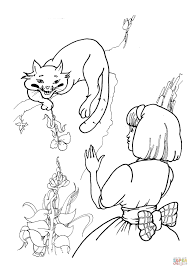 Small Picture Cheshire Cat With Alice coloring page Free Printable Coloring Pages