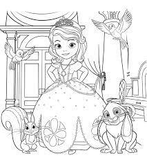 Sofia The First Coloring Pages For