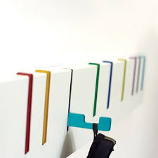 Wall Coat Rack With Hooks Symbol Coat Rack by Desu Design Love the simplicity of this design 62