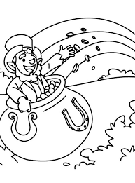 Small Picture Cute Leprechaun Coloring Page GetColoringPagescom