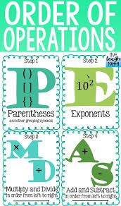 Order Of Operations Anchor Chart Order Of Operations Practice Worksheet Redwoodsmedia