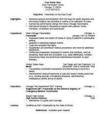Emt Resume Job Description Emt Resume Cover Letter Manqal Hellenes