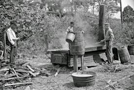 vintage everyday black and white photos of west virginia coal boiling juice of sugarcane into sorghum molasses