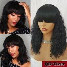 short wavy bob synthetic wigs full