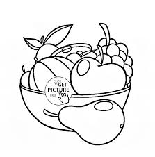 Small Picture Fruit Bowl coloring page for kids fruits coloring pages