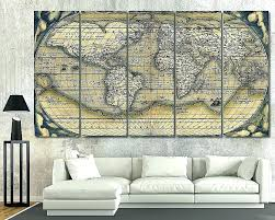 unique wall art and decor wall decor map of the world wall decor map of the
