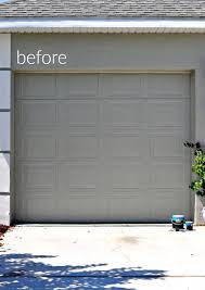 painting garage doorWood Painted Garage Doors  First Home Love Life