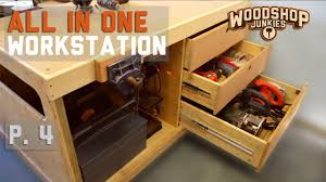 all in one storage. Wonderful One Workbench With Power Tools Storage  ALLINONE Woodworking Station P4 Throughout All In One Storage 3