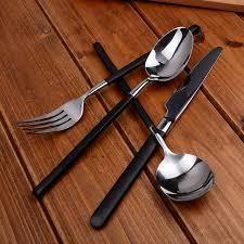 Черный нож с ручкой для <b>стейка</b> и <b>вилки</b> набор <b>столовых</b>...
