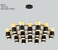 modern metal chandelier modern metal gold and black color large chandelier for lighting projects modern round