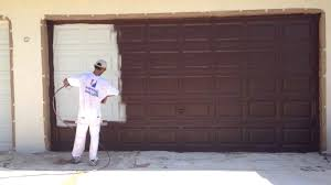 can you paint a garage door give your garage a paint trim around