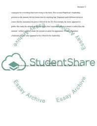 Animal Farm Essay Animal Farm Essay Example Topics And Well Written Essays 250 Words