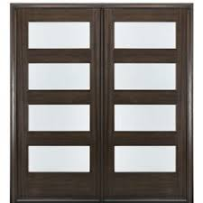 modern double entry doors. MAI Doors C4-2 4-Lite Contemporary 80\ Modern Double Entry L
