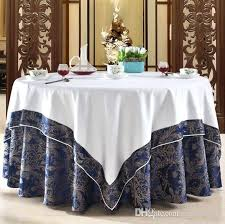 dining table cover jacquard tablecloth luxury round covers home dining table cover for wedding hotel red