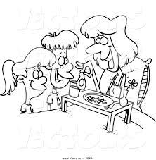 Vector of a Cartoon Cartoon Black and White Outline Design of ...