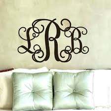 monogram letters for wall custom made decals letter personalized stickers decal dec monogram letters for wall