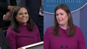 Sarah Huckabee Sanders and NBC News' Kristen Welker Wear Same Dress at  White House Briefing | Inside Edition