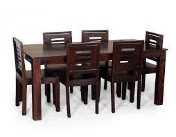 Madera Ashley Six Seater Solid Wood Dining Table Set Mahogany