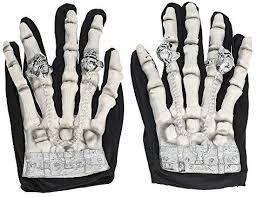 Lixada Full Finger Horror Skeleton Gloves Ghost <b>Skull Bone</b> Gloves ...