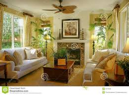 Yellow Living Rooms Sunny Yellow Living Room W Fan Royalty Free Stock Photos Image