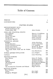 Table of Contents (1958)