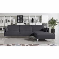 contemporary sectional couch. Divani Casa Rixton Modern Grey Fabric Sofa Bed Sectional Contemporary Couch C