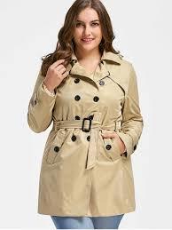 plus size parka plus size trench coat light khaki plus size jackets coats 2xl zaful