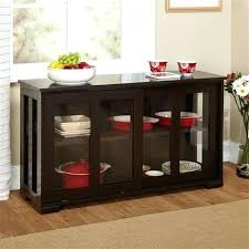 buffet with glass doors espresso sideboard buffet dining kitchen cabinet with 2 glass sliding doors antique