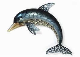 wall art ideas design hanging cool dolphin metal decoration interior premium high quality material giant floral  on copper dolphin wall art with wall art ideas design copper waves dolphin metal wall art amazing