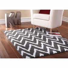 elegant grey and white chevron rug 23 black the collection corner 02
