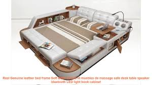 <b>Real Genuine leather bed</b> frame Soft Beds camas lit muebles de ...