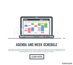Schedule And Agenda Week Calendar Time Planner For Business