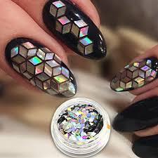 119 1ks Umělé Tipy Na Nehty Glitter Pro Nail Art Manikúra Pedikúra Luxus Elegantní Moderní Módní Denní