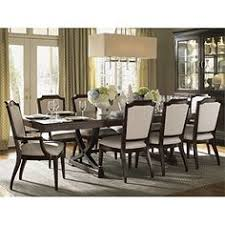lexington kensington place eleven piece dining set with customizable fabric chairs belfort furniture dining 7 or more piece set