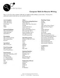 Resume Resume Skills List Valid Example Electrical Engineer Adorable List Of Technical Skills For Resume