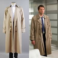 supernatural hunter angel emmanuel cas castiel trench cosplay costume coat suit