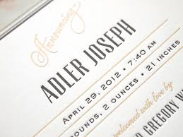 Print Baby Announcement Cards Baby Announcement Cards Letterpress Cards