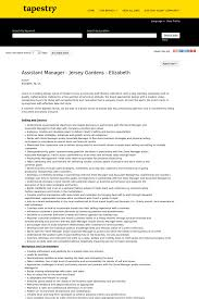 assistant manager jersey gardens