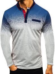 Men's Gradient 3D Print T-shirt Long Sleeve Sports Wear Fashion ...