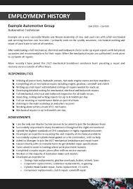 Mechanic Resume Template Career Engineering Resume Sales Lewesmr Av Technician Janitors 28
