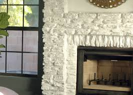 painted stone wallPainting Our Faux Stone Fireplace  Little Green Notebook