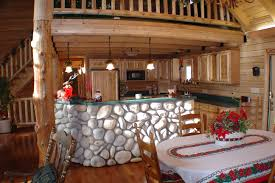 Log Cabin Kitchen Decor Interior Modern Elegant Log Cabin Stone Design Kitchen Wood