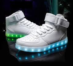 mens led shoes white