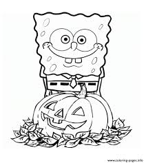 Appealing Spongebob Halloween Coloring Pages 20 For Coloring Print ...
