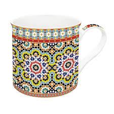 Easy Life Design Coffee Mugs Porcelain Mug 300 Ml In Gift Box Arabian Yellow