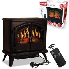 details about 1800w electric fireplace wood burner cast effect log heater stove black fire fan