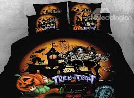onlwe 3d skull and party printed 4 piece bedding sets duvet covers