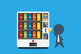How To Get Into Vending Machine Business Magnificent Businessman Inserting Coin Into Vending Machine To Buy Time Can