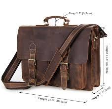style men s leather messenger bag briefcase laptop bag size